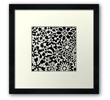 Cute Floral Pattern Item Framed Print