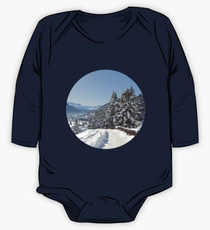 Winter in Switzerland One Piece - Long Sleeve