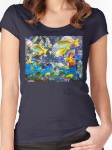 Colorful Tropical Fish Women's Fitted Scoop T-Shirt