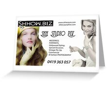 Shhow.Biz Promotion Greeting Card
