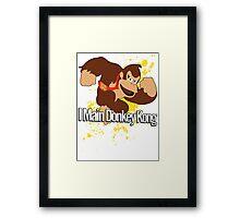 I Main Donkey Kong (DK) - Super Smash Bros. Framed Print