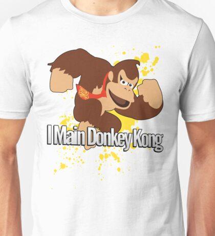 I Main Donkey Kong (DK) - Super Smash Bros. Unisex T-Shirt