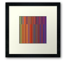 Spiked Colors Framed Print