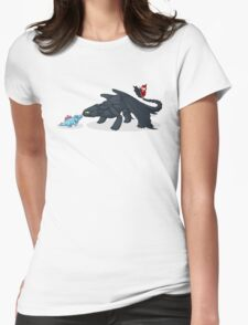 Toothless & Totodile Womens Fitted T-Shirt