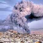 Fire in Athens by StamatisGR