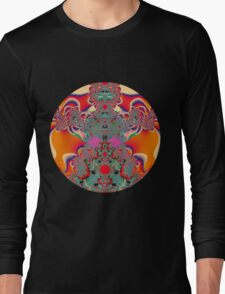Red Meditation Long Sleeve T-Shirt
