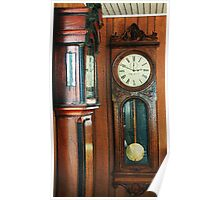 Somebody's Grandfather's Clocks Poster