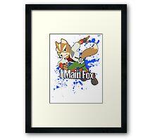 I Main Fox - Super Smash Bros. Framed Print