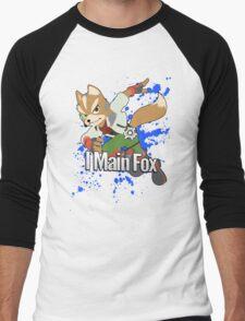 I Main Fox - Super Smash Bros. Men's Baseball ¾ T-Shirt