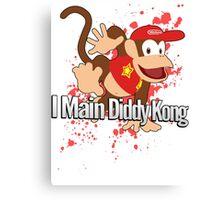 I Main Diddy Kong - Super Smash Bros. Canvas Print