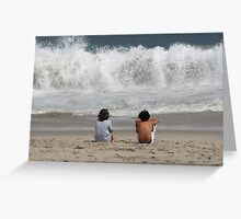 BIG waves Greeting Card