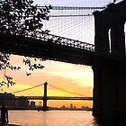 Two Bridges At Sunrise by Dave Bledsoe