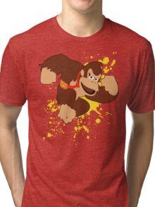 Donkey Kong (DK) - Super Smash Bros Tri-blend T-Shirt