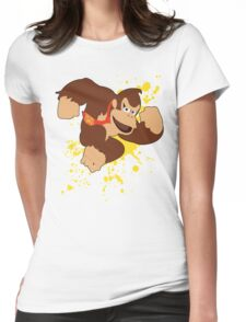 Donkey Kong (DK) - Super Smash Bros Womens Fitted T-Shirt