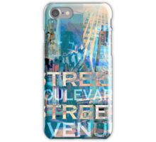 Street Scene Signs iPhone Case/Skin