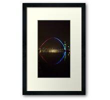 Large Millenium Bridge Newcastle Framed Print