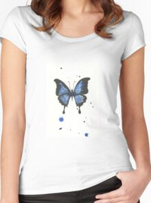 Inky butterfly Women's Fitted Scoop T-Shirt