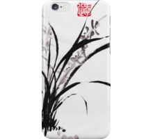 Japanese Orchid Design painted by Lee Henrik iPhone Case/Skin