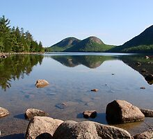 Summer Scene, Jordan Pond by Dan Hatch