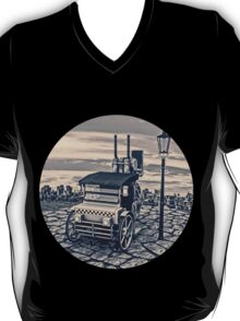 Retro Steam Cab-Taxi T-Shirt