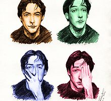 Many faces of John Cusack by AscendeadMaster