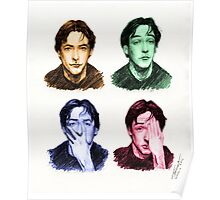 Many faces of John Cusack Poster