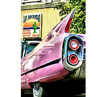 pink caddy stops for legal advice Photographic Print