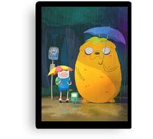 Adventure Time - Totoro Version  Canvas Print