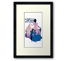 Cinderella love Framed Print