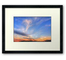 Matthew 24:30 - at Torquay Beach in HDR Framed Print