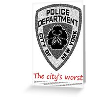 The city's worst Greeting Card