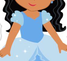 African American  Princess Cinderella Sticker