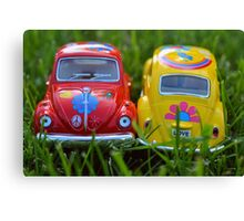Peace, Love, and Grass Canvas Print