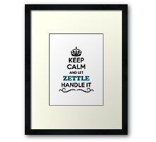 Keep Calm and Let ZETTLE Handle it Framed Print