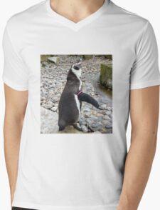 Humboldt Penguin Mens V-Neck T-Shirt