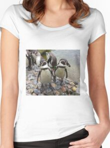 Humboldt Penguin Gang Women's Fitted Scoop T-Shirt