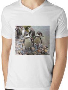 Humboldt Penguin Gang Mens V-Neck T-Shirt