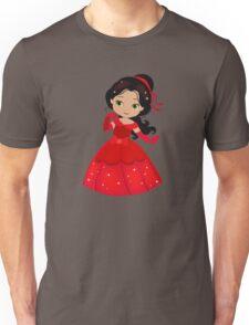 Beautiful Princess in a red dress Unisex T-Shirt