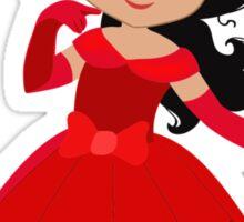 Beautiful Princess in a red dress Sticker