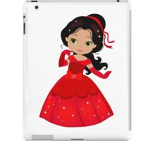 Beautiful Princess in a red dress iPad Case/Skin