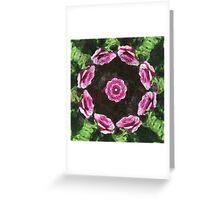Rosas Moradas 2 Kaleidoscope 3 Greeting Card