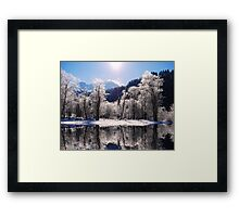 Reflections of Winter, Austria Framed Print