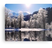 Reflections of Winter, Austria Metal Print