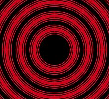 In Circles (Red Version) by Roz Abellera Art Gallery