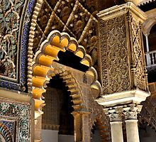SEVILLA - The ALCAZAR - Interior arches and arabian laces by Daniela Cifarelli