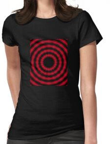 In Circles (Red Version) Womens Fitted T-Shirt