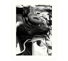 Lenses Black and White Art Print