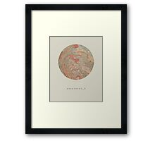 exoplanet_3 (sugar mountain) Framed Print
