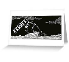 "Vikings  ""the storm"" Greeting Card"