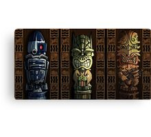 Star Wars Tikis Canvas Print